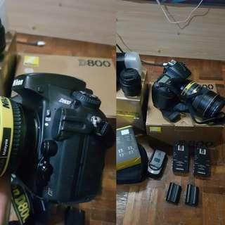 Nikon d800 full set