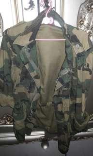 Jaket army #TerbangKeSingapura