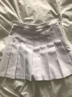 Pleated White American Apparel Tennis Skirt Small