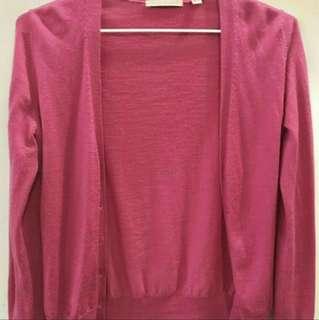 Uniqlo pink cardigan