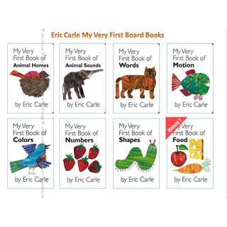 🚚 Eric Carle - My Very First Book of 7 books + Food Gift Collection Set (All board books and brand new)