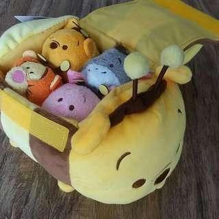 Disney Store Tsum Tsum 'Pooh Bumblebee Bag' Set