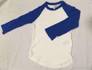 H&M Basic Female T-Shirt (blue&white)