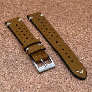 [20/22mm] OAK BROWN RALLY LEATHER STRAPOLEATHER STRAP