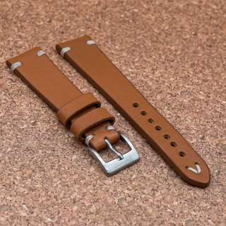 [20/22mm] TAN BROWN VINTAGE LEATHER STRAPOLEATHER STRAP
