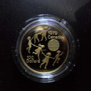 1979 Canada Year of the Child $100 1/2 oz Gold Proof Coin