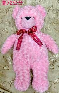 粉紅熊玩偶