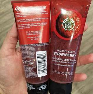 the body shop strowberry sorbet body polish