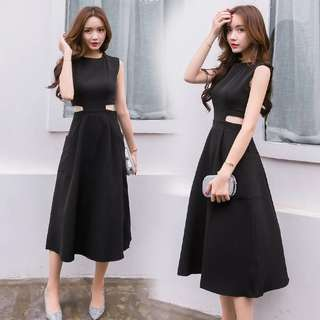 [PO] Cut-out Black Dress