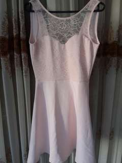 H&M Peach Backless Lace Dress