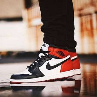 NIKE AIR JORDAN 1 HIGH OG BLACK TOE
