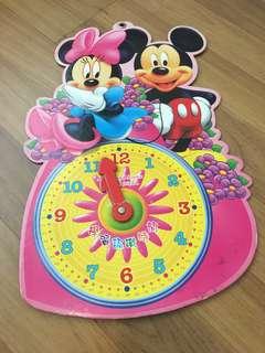 #list4sbux Mickey & Minnie educational clock (learn hour & minute)