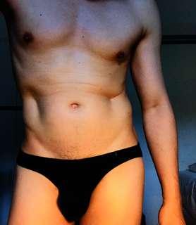 🚚 黑色萊卡男性內褲