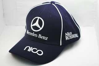 Motorsport Embroidery Mercedes Benz Cap Cotton Breathable Adjustable Unisex Sport