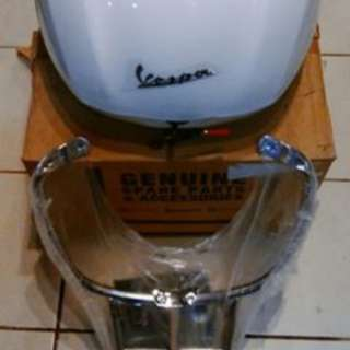 Paketan box vespa original dan top box support original for vespa sprint dan primavera