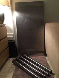 IKEA stainless steel table