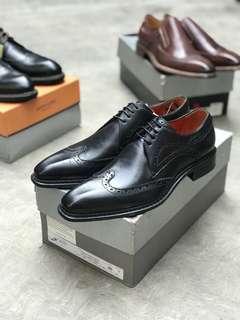 Sepatu boots formal mario cuomo made italia