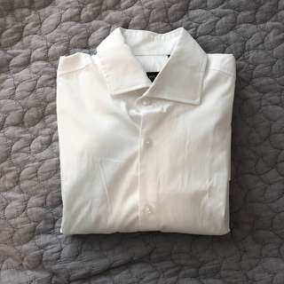 Hugo boss white button up shirt