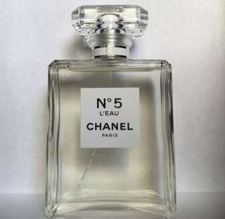 Chanel no.5 l'eau eau de toilette spray 100ml new tester no box genuine