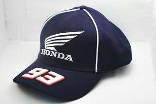 Motorsport Embroidery Honda Cap Cotton Breathable Adjustable Unisex Sport - ( Black )
