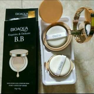 BIOAQUA Exquisite and delicate BB cream air cushion gold case plus refill bedak