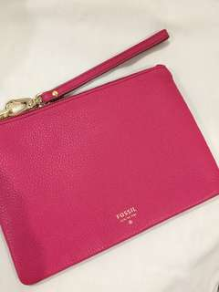 Fossil genuine leather clutch