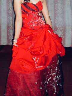 Red Long Gown 👗