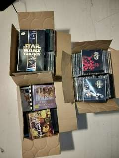 Misc box of CDs, DVDs