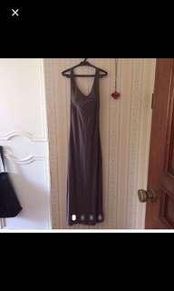 Brown Low Back Dress/Scoop Back