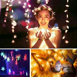 20 LED stars fairy lights (2 meters length)