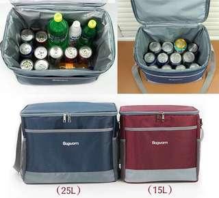 Thermal delivery cooler warmer sling bag