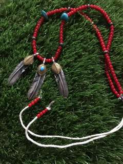 Authentic Goro's turquoise, gold, silver & red