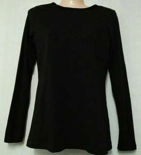 Longsleeve plain black