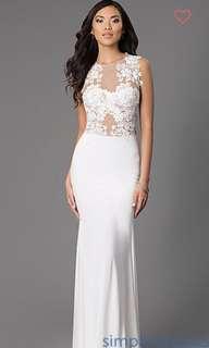 White Formal/Bridal Dress