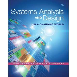 Systems Analysis and Design in a Changing World 7th edition