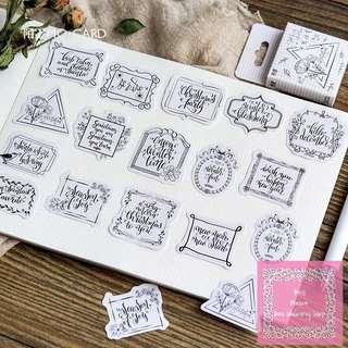 Set of 45pcs Beautiful Calligraphy Writing Sticker Pack
