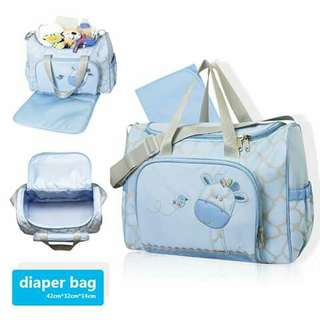 Diaper Bag - BLUE GIRAFFE