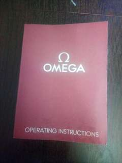 Omega operating instructions booklet