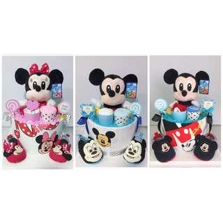 Mickey and Minnie Diaper cake