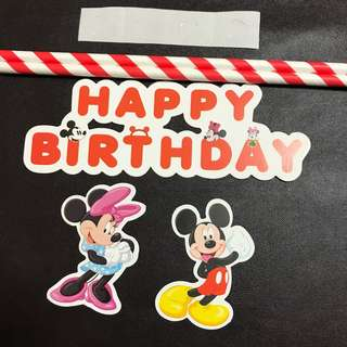 (Ins) Mickey Mouse Cake Topper