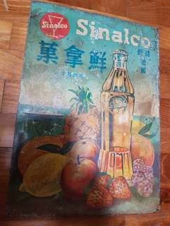 Vintage Sinalco Metal Tin Sign