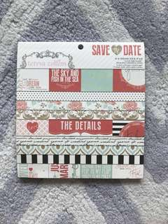 Wedding themed project life cards, die cuts and papers