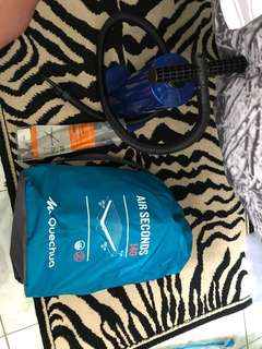 """REPRICED!! """"Quechua"""" air seconds 140 air bed and pump"""
