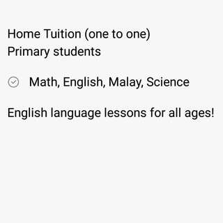Tuition (Home Based)