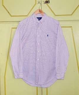 Authentic Ralph Lauren Bold Stripe LS Button Down Shirt
