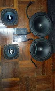 Front 2 way speakers and mid bass speakers