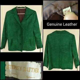 Genuine Suede Leather Vintage Women's Jacket S - M 'Stephen Dattner'