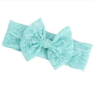 Lace Headband for Baby Girl (Light Green)