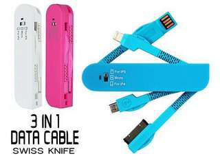 3 in 1 Army Knife USB Data Cable