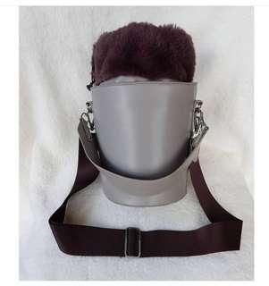 Something Borrowed Fur Bucket Bag